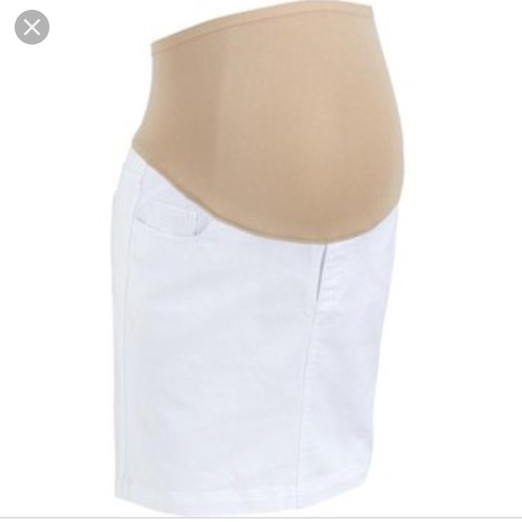 White Maternity Skirts
